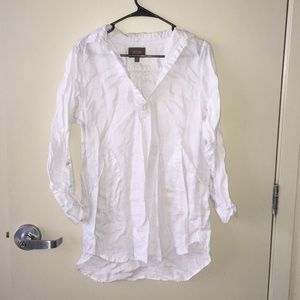 White Linen Tunic / Cover Up